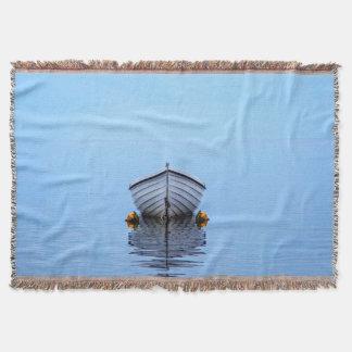 Lone Boat Throw Blanket