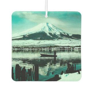 Lone Boatman Beneath the Winter Shadow of Mt. Fuji Car Air Freshener