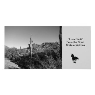"""Lone Cacti"" Custom Photo Card"