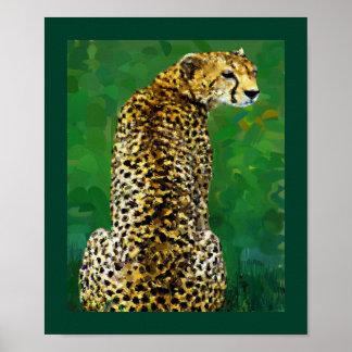 Lone Cheetah Poster