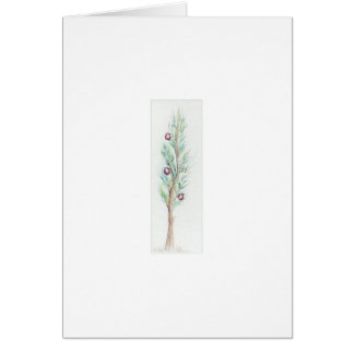 Lone Christmas Tree (Watercolor) Card