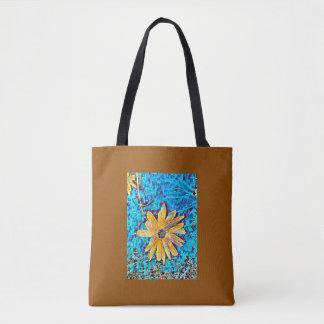 Lone daisy tote bag