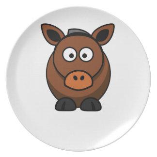 lone donkey dinner plates
