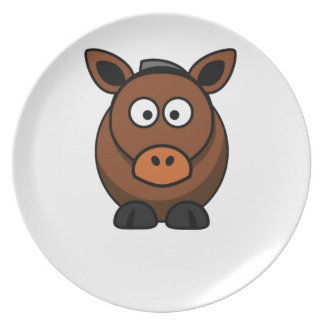 lone donkey plate