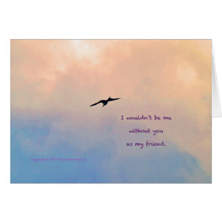 Lone Gull #2 with poem: Everyone's Friend Card