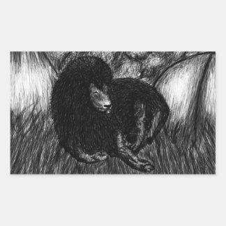 Lone Lion Sticker