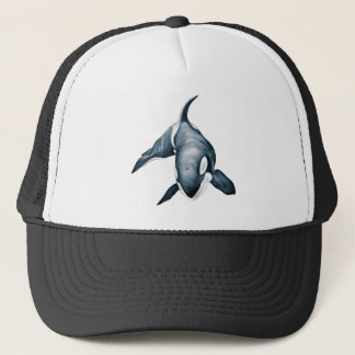 Lone Orca Whale Trucker Hat