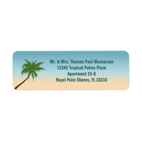 Lone Palm Return Address Label