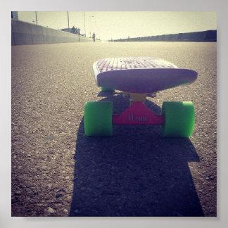 Lone Penny Skateboard Nickel. Poster