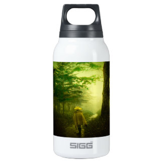Lone Pilgrim in the Forest Road Mist Vintage Japan Insulated Water Bottle