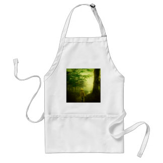 Lone Pilgrim in the Forest Road Mist Vintage Japan Standard Apron