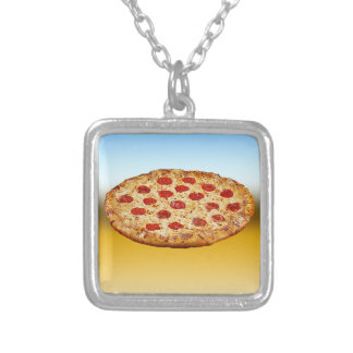 Lone Pizza - multi products Silver Plated Necklace