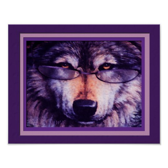 Lone Purple Wolf Poster