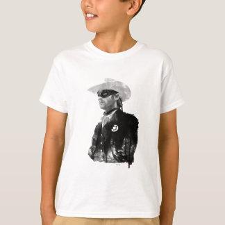 Lone Ranger John Reid - Black and White T-Shirt