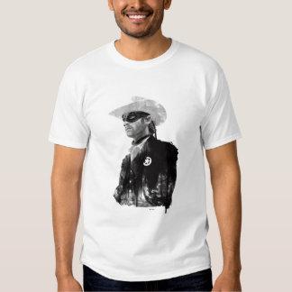 Lone Ranger John Reid - Black and White Tee Shirt