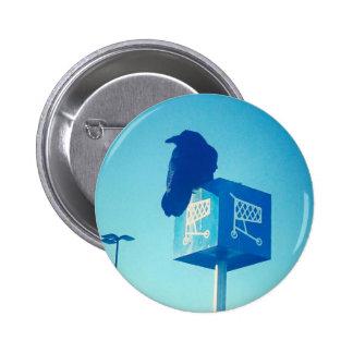 Lone Raven Walmart cart sign 2 Inch Round Button