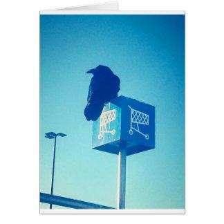 Lone Raven Walmart cart sign Greeting Card
