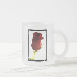 Lone Rose Frosted Mug
