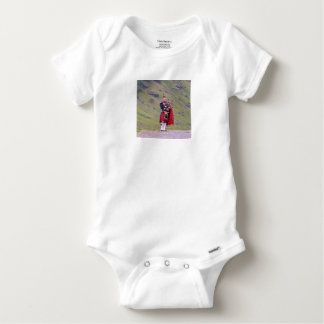 Lone Scottish bagpiper, Highlands, Scotland Baby Onesie