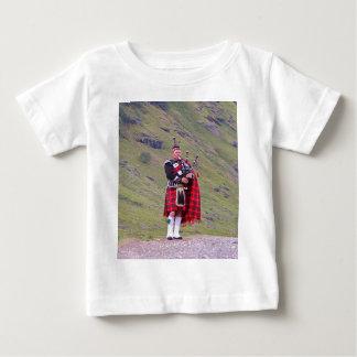 Lone Scottish bagpiper, Highlands, Scotland Baby T-Shirt
