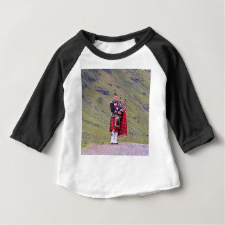Lone Scottish bagpiper, Highlands, Scotland Baby T-Shirt
