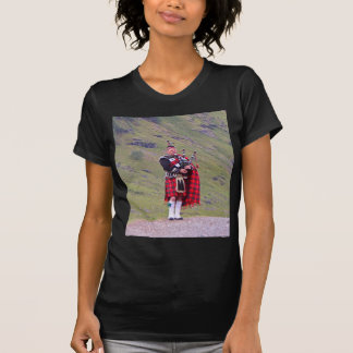 Lone Scottish bagpiper, Highlands, Scotland T-Shirt