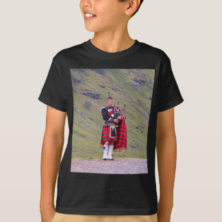 Lone Scottish bagpiper, Highlands, Scotland T-Shirt