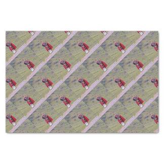 Lone Scottish bagpiper, Highlands, Scotland Tissue Paper