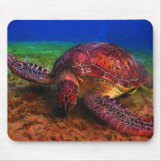 Lone Sea Turtle Mousepad