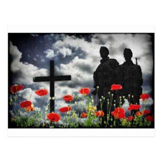 Lone Soldiers WW1 Postcard