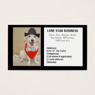 LONE STAR ANY BUSINESS BUSINESS CARD