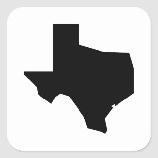 Lone Star by Leslie Peppers Square Sticker