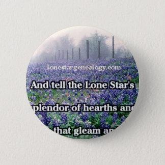 Lone Star Genealogy Poem Bluebonnet 2 Inch Round Button