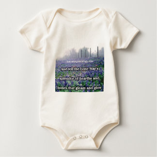Lone Star Genealogy Poem Bluebonnet Baby Bodysuit