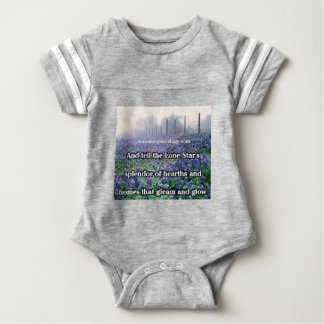 Lone Star Genealogy Poem Bluebonnet Baby Bodysuit
