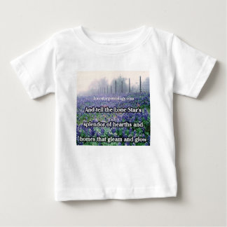 Lone Star Genealogy Poem Bluebonnet Baby T-Shirt