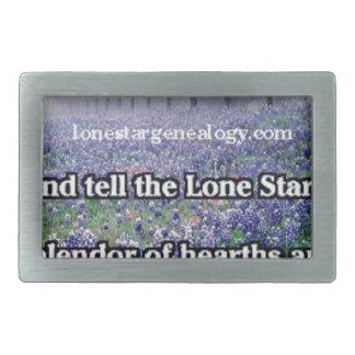 Lone Star Genealogy Poem Bluebonnet Belt Buckles