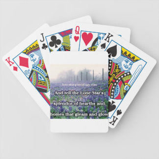 Lone Star Genealogy Poem Bluebonnet Bicycle Playing Cards