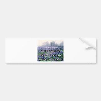 Lone Star Genealogy Poem Bluebonnet Bumper Sticker