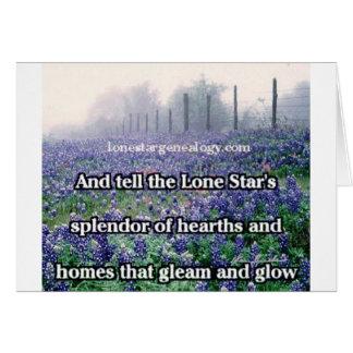Lone Star Genealogy Poem Bluebonnet Card