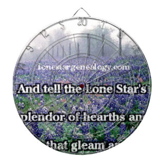 Lone Star Genealogy Poem Bluebonnet Dartboard