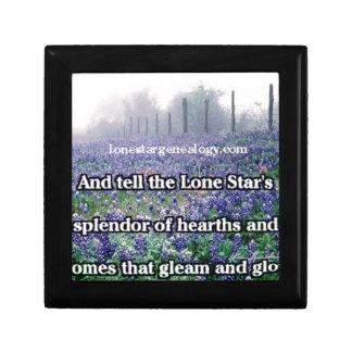 Lone Star Genealogy Poem Bluebonnet Gift Box