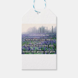 Lone Star Genealogy Poem Bluebonnet Gift Tags
