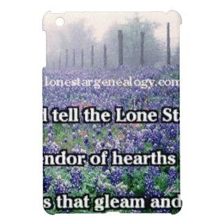Lone Star Genealogy Poem Bluebonnet iPad Mini Case