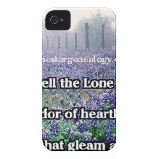 Lone Star Genealogy Poem Bluebonnet iPhone 4 Case-Mate Case