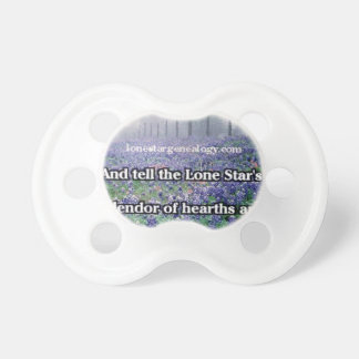 Lone Star Genealogy Poem Bluebonnet Pacifier