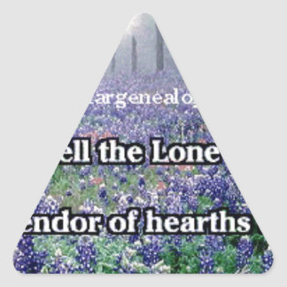 Lone Star Genealogy Poem Bluebonnet Triangle Sticker