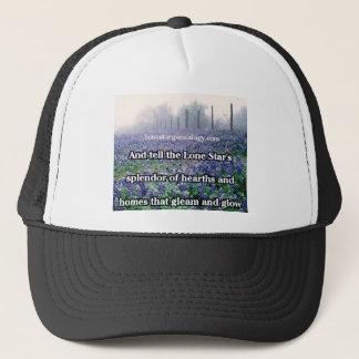 Lone Star Genealogy Poem Bluebonnet Trucker Hat