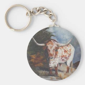 Lone Star Longhorn Keychain