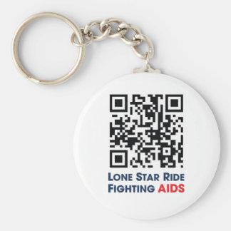 Lone Star Ride Tag Keychain